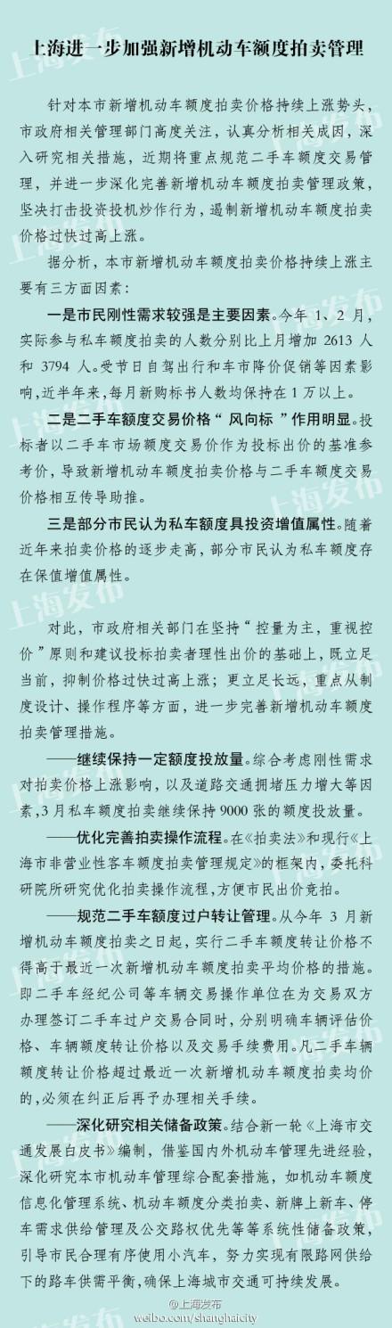 上海限价二手车牌照