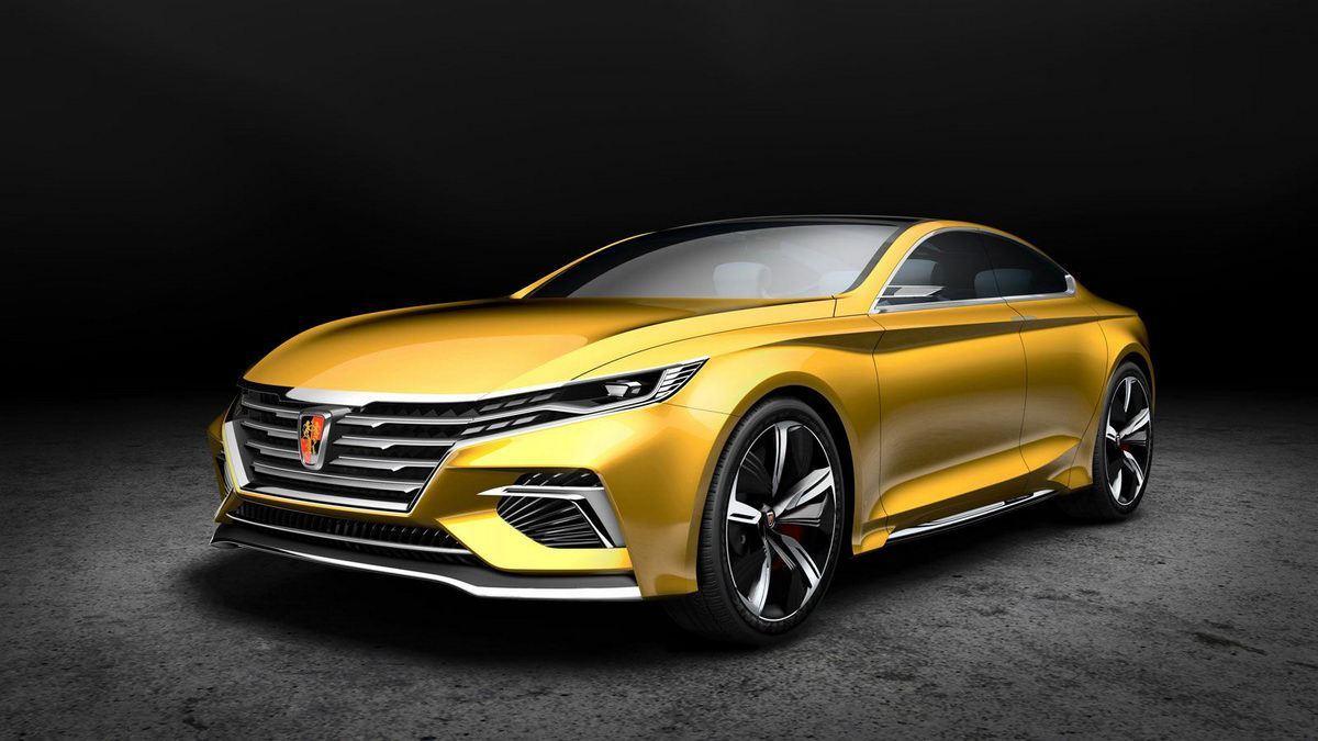 荣威全新轿车预告图发布 将于广州车展亮相