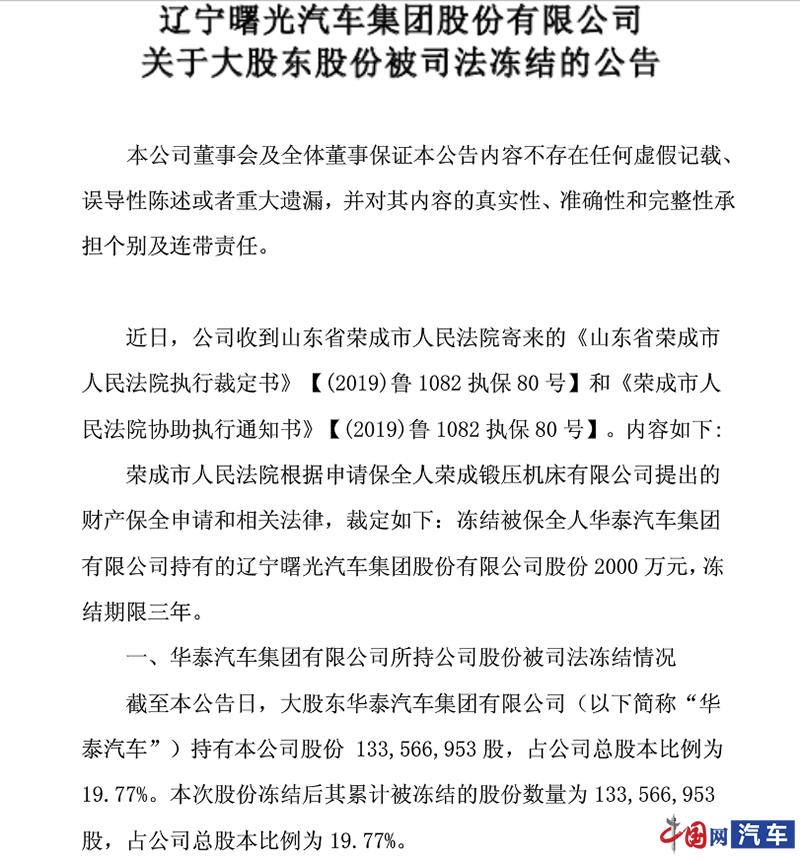 华泰汽车三大基地停产 终端销售出现停滞