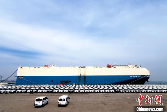 """数千辆平行进口汽车""""亮相""""天津港保税区"""