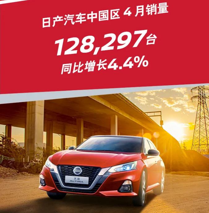 同比增長45.9% 日產汽車發布中國區1-4月銷量數據