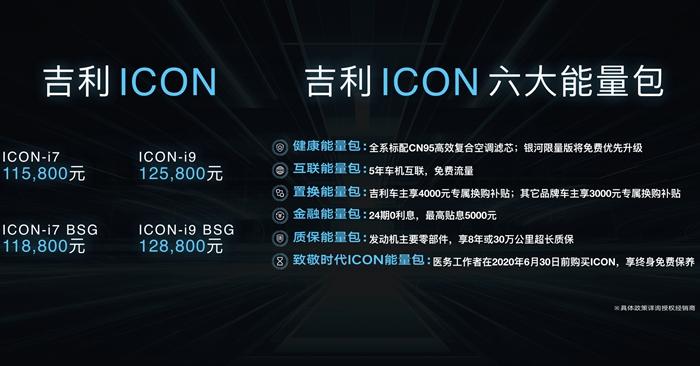 吉利全新紧凑型SUV车ICON上市 售11.58-12.88万元