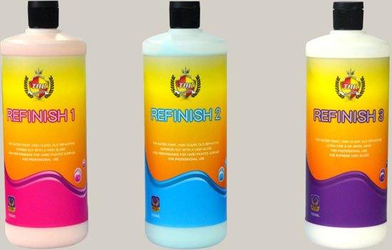 随着汽车制造技术的飞跃发展,美国、欧洲、日本等地汽车制造商普遍采用环保型高强度水性车漆。而传统的油性研磨剂与抛光蜡难以附着在水性漆面,无法研磨及抛光水性漆面,基于以上需求TAC韩国本部研究所开发出REFINISH系列专门用于水性漆面和高硬度漆面的新型多功能水性研磨剂。  TAC推出新型多功能水性研磨剂   成份:采用铈矿石、玻璃珠、石英砂等极其细微和硬度极高的多角形状的研磨粒子组成   产品特征:   1.