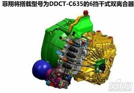 菲亚特 viaggio菲翔的六速干式双离合变速箱用两组离合器分别控制1,3