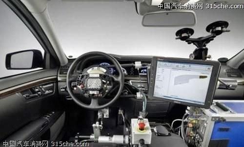 我国研发无人驾驶汽车 明年上路测试高清图片