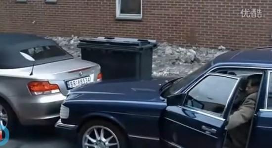 水货女司机被扔进垃圾桶