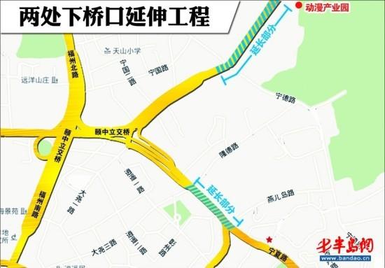青岛胶宁高架路地图