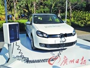 驱动未来 试驾高尔夫电动版 图 高清图片