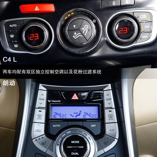 朗动汽车空调按钮图解