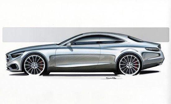 汽车侧面手绘图 手绘