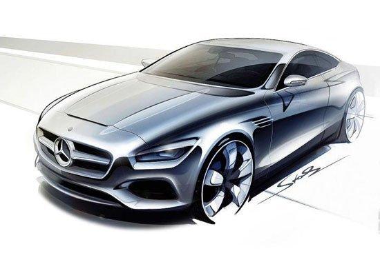 coupe手绘图; 新奔驰s级 coupe手绘图曝光; 奔驰s级coupe手绘图